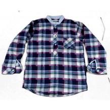 Camisa m/l cuadros franela niño