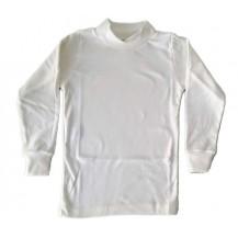 Camiseta semicisne manga larga crudo