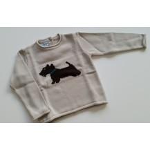 Jersey arena perro marrón