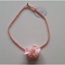 Collar pompon rosa