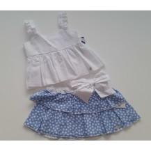 Conjunto falda y top plumeti colección Stars
