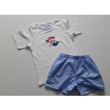 Conjunto boxer tela nautic y camiseta