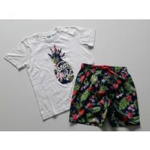 Bañador tela flores y camiseta