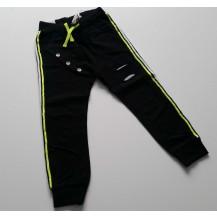 Pantalón largo negro rayas fluor