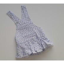 Ranita braguita con falda flamencos azul
