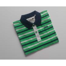 Polo rayas verde, blanco y marino