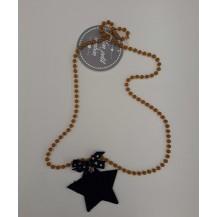 Collar estrella marino y mostaza