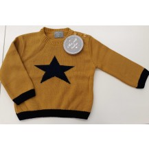 Jersey mostaza estrella marino