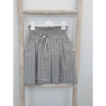 Falda engomada gris cuadros