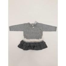 Vestido alex pelo gris