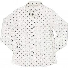 Camisa blanca aspas