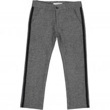 Pantalón gris jaspeado linea negra