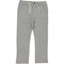 Pantalón jaspeado gris algodón