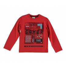 Camiseta gamer roja