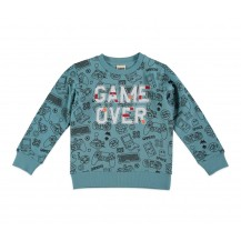 Sudadera game over verde