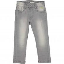 Pantalón denim gris algodón