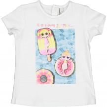 Camiseta blanca helados