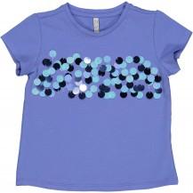 Camiseta azul lentejuelas