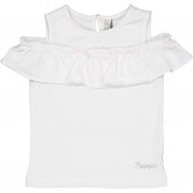 Camiseta blanca hombro abierto