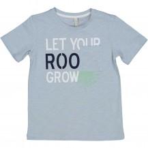 Camiseta azul grow