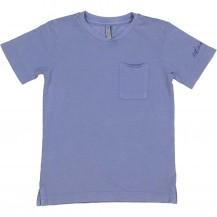 Camiseta azulada tejido polo