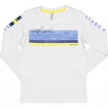 Camiseta manga larga azul y amarilla