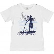 Camiseta surf blanca y marino
