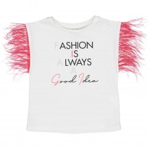 Camiseta fashion plumas