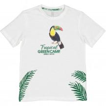 Camiseta tropical blanca