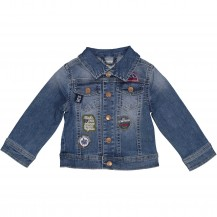 Cazadora denim parches