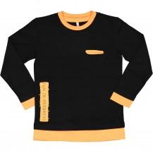Camiseta snow negra y naranja