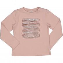 Camiseta rosa lentejuelas plata