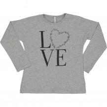 Camiseta love gris