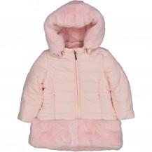 Abrigo rosa pelo bajo