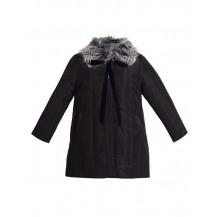 Abrigo negro pelo interior (cuello por separado)