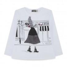 Camiseta shopping  blanca