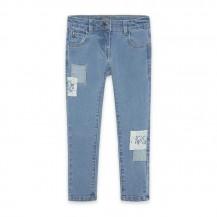 Pantalón denim patches