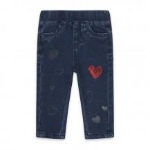 Pantalón jeans corazones rojo