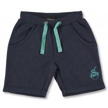 Bermuda algodón azul cordón verde