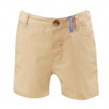 Pantalón corto bebé vestir  camel