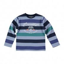 Camiseta rayas marino, azul y verde