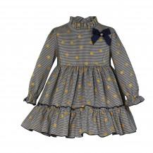 Vestido marino lunares dorados + jersey