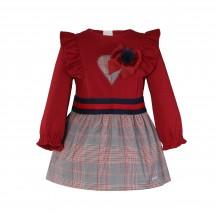 Vestido cuadros granage corazón