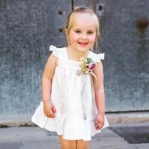 Vestido panama bordado blanco