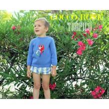 Bombacho niño + jersey loro tropico azulón