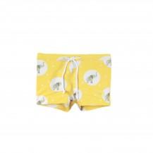 Conjunto bebé boxer baño + camiseta elefantes amarillo