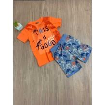 Conjunto good naranja y azul