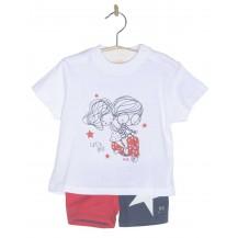Conjunto boxer+camiseta bicolor estrella