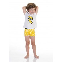 Conjunto boxer + camiseta amarillo