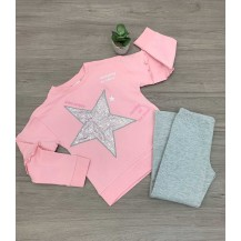 Chándal dancing rosa y gris